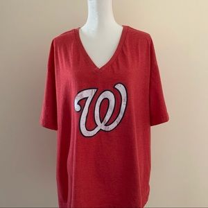 MLB Washington Nationals Women's Distressed Top-3X